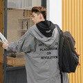 Marca 2016 Moda versión Coreana abrigo de invierno hombres de Algodón Todos Los Días Hermosos ropa Abrigada de invierno casual capa larga delgada