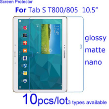 Free Shipping 10pcs Screen Protector Guard Clear/Matte/Nano Protective Films for Samsung Tablet Tab S 8.4 T700 705/10.5 T800 805