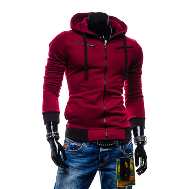 2018 őszi férfi kapucnis pulóver Kardigán férfi alkalmi cipzáras pulóver vékony kapucnis férfi pulóver Sportruházat kapucnis 4XL 10