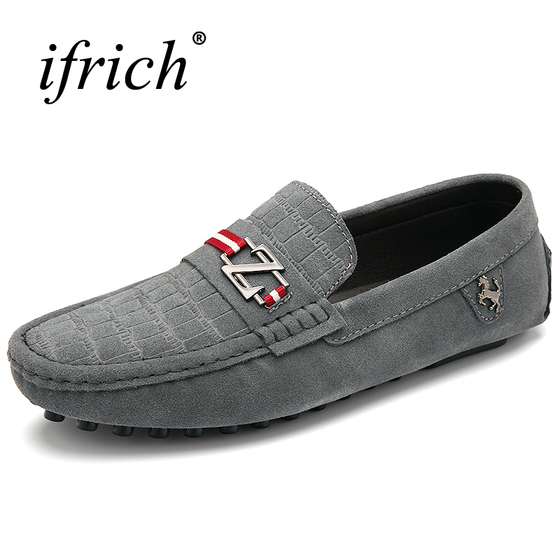 Cheap Mens Loafers Shoes Slip on Cow Suede Shoes Men Luxury Chinese Brand Leather Black Blue Driving Shoes Low Price branded men s penny loafes casual men s full grain leather emboss crocodile boat shoes slip on breathable moccasin driving shoes