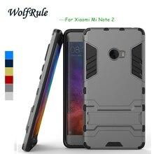 5ea33fa7c4f WolfRule Anti-Knock caso Xiao mi nota 2 silicona + plástico caso para Xiao  mi