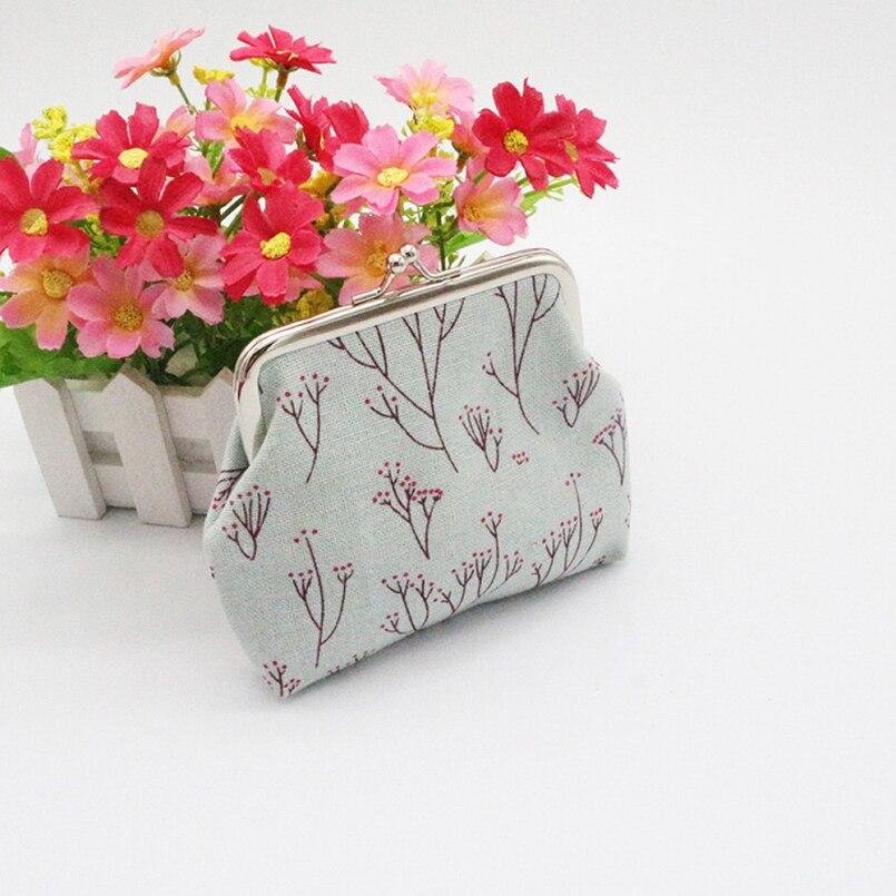 2018 New Fashion Classic Retro Canvas Wallet Card Key Coin Purse Bag Pouch Case Coin Purse Clutch Handbag for Women Girl