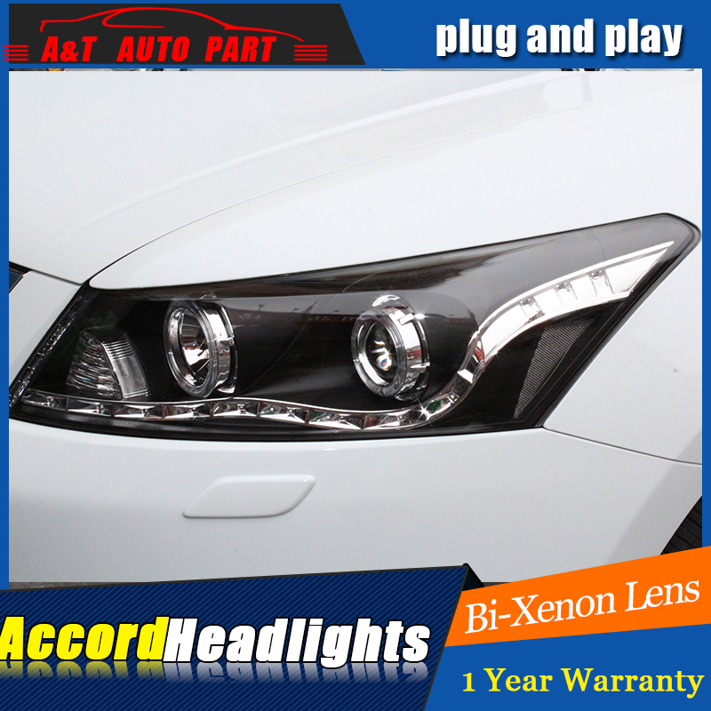 Style de voiture pour Honda accord phares ange yeux 2011-2013 pour Honda accord phare h7 xénon led drl