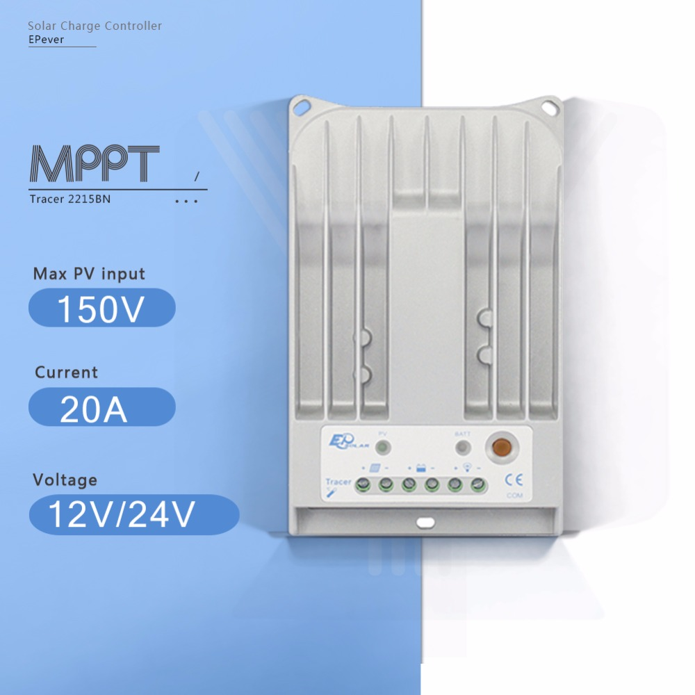 Tracer-BN Series Tracer 2215BN Solar Panel Controller 20A 260W/12V 520W/24V MPPT Solar Charger Controller with Auto Work EPEVER wifi box for android app connect use solar panel controller tracer2210cn 12v 24v auto work with usb cable 20a