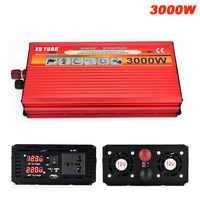 3000W voiture onduleur DC 12 V/24 V à AC 220 V LED affichage voiture chargeur convertisseur 12/24 Volts à 220 Volts