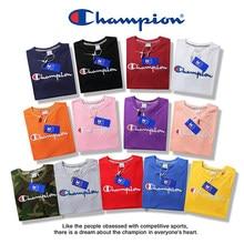 c3695c0a0070b2 Champion Men Women Classic Jersey Script Logo T-Shirt 100% Cotton Tee Tshirt