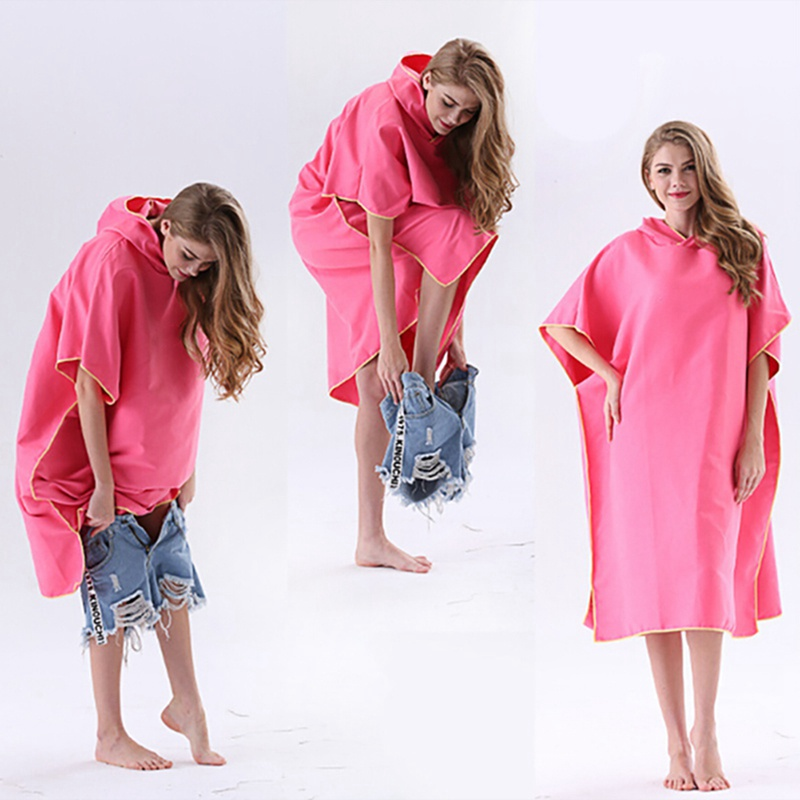 New Men Women Super Absorb Changing Bath Robe Quick-dry Surf Poncho Towel With Hood Bath Robe Poncho One Size Fit AllNew Men Women Super Absorb Changing Bath Robe Quick-dry Surf Poncho Towel With Hood Bath Robe Poncho One Size Fit All