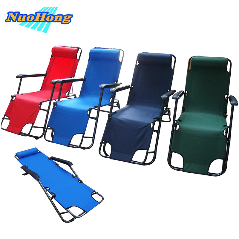 Aliexpress.com : Buy NUOHONG 2017 Folding Sun Lounger Double Deck Fashion Outdoor  Furniture Tourist Camping Chairs Stainless Steel Metal From Reliable ... Part 74