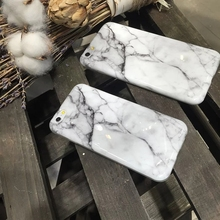 New Hot Cool Fashion Crack White Black Marble Print Soft TPU Slim Shell Cover For iPhone 6 s + Stylish Cute Phone Cases Girls