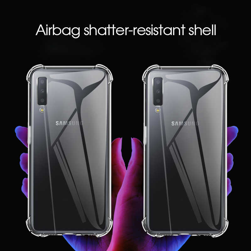 KEYSION Phone Case for Samsung A70 A50 A30 M10 A20 A30 Transparent Soft TPU Air Bumper Phone Cover S10 S9 Note 9 A6 A8 A9 2018