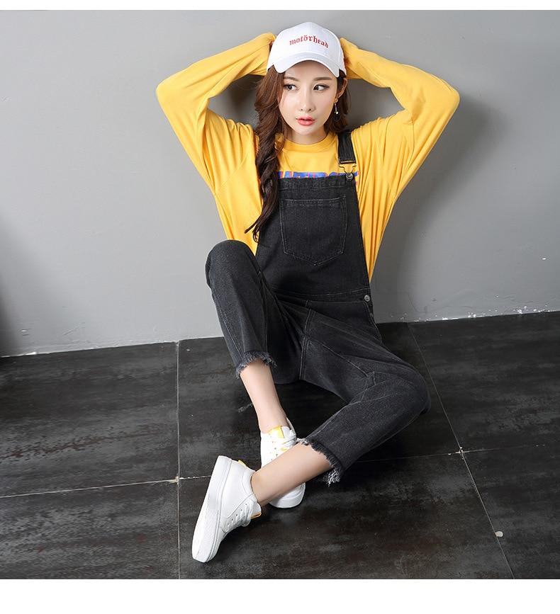 c4a4a7d7b86 2018 Denim Jumpsuits Women Vaqueros Romper Long Pants Female Black Denim  Overalls Suspender Female Slim jeans pants-in Jumpsuits from Women s  Clothing on ...