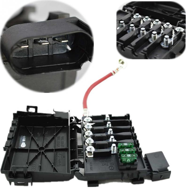 Hot New Car Fuse Box Black Fuse Box Battery Terminal Metal Plastic Parts Number 1J0937617D A51 box men picture more detailed picture about hot new car fuse box plastic fuse box at gsmx.co