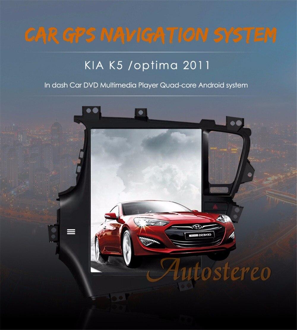 Tesla style Android Voiture GPS Navigation voiture Sans Lecteur DVD Pour KIA Optima KIA K5 2010-2013 voiture stéréo unité auto multimédia Satnav
