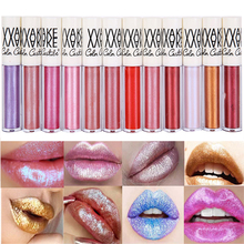 New Whiten Glitter lip gloss 8ml moisture highlighting lip balm gloss 12 colors pink shinning glitter lip tint liquid lipstick