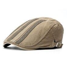 Los hombres de cuadros de vendedor de periódicos sombrero patrón de rayas  boinas gorras colores mezclados · 4 colores disponibles a5dccd7ef46