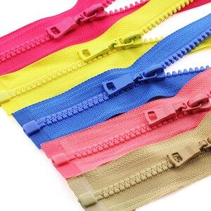 5# 3pcs 30/40/55/60/70/80/90cm open-end auto lock ECO colorful plastic resin zipper for clothes garment FC157