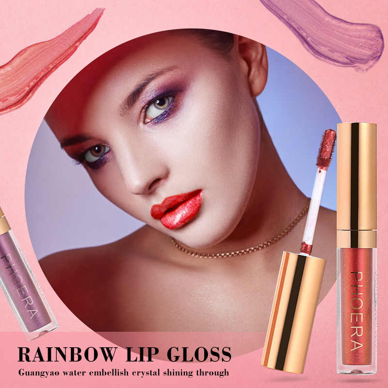 10 สีของเหลวคริสตัล Glow Lip Gloss เลเซอร์ Holographic Lip Tattoo ลิปสติกเมอร์เมด Pigment Glitter ลิปกลอส Plumper Gloss