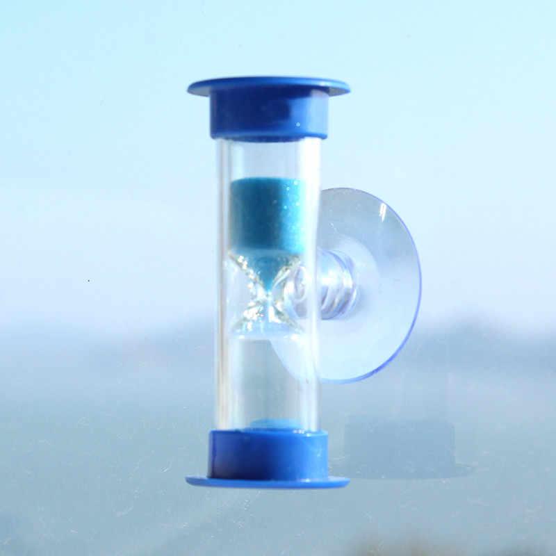 3 דקות מיני שעון חול מקלחת טיימר/שיניים צחצוח טיימר עם יניקה כוס עופרת משלוח זמן שעון חול מדחום שעון שעונים # YY
