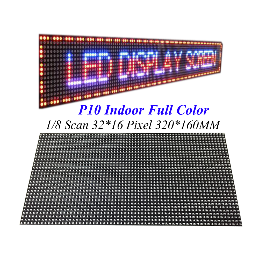 Indoor Screen Module 320*160MM 32*16Pixel 3in1 SMD 1/8 Scan Full Color LED Module for Advertising media P10 LED Display diy led viveo display 4 pcs p10 outdoor single blue color led module 320 160mm 1 pcs controller 1pcs mw power supply