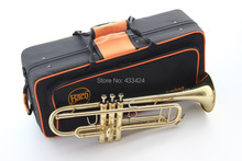 Bach  LT180-43  B flat professional trumpet bell gold Top musical instruments in Brass trompete trumpeter bugle horn trombeta