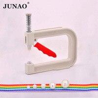 JUNAO 4 5 6 8 10 мм Белое жемчужное ручной Пресс Инструменты Перл настройки машины бусины заклепки фиксатор для наборы сделай сам DIY