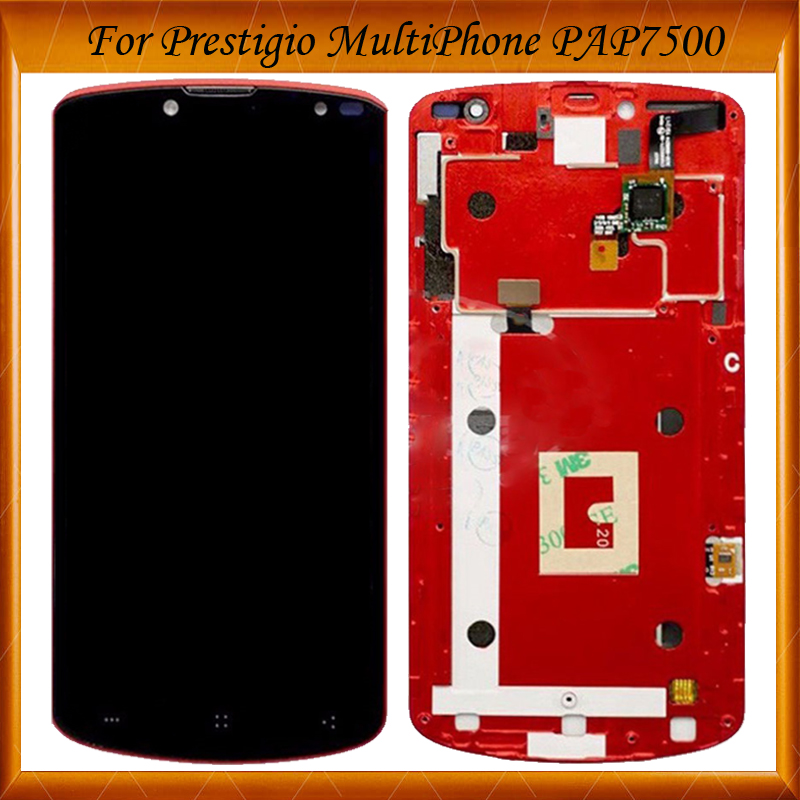 100% Working Well For Prestigio MultiPhone PAP 7500 PAP7500 LCD Screen Display with Touch screen Digitizer Assembly WithIN Stock