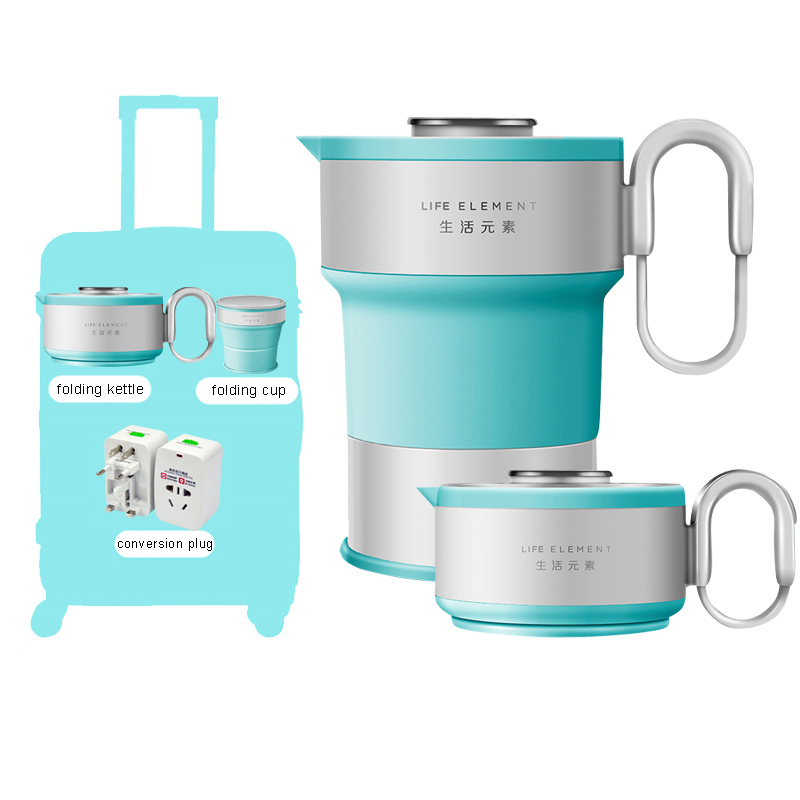 Electric Water Kettle Compressed Folding Compression Travel Portable Insulation Auto Power-off Protection
