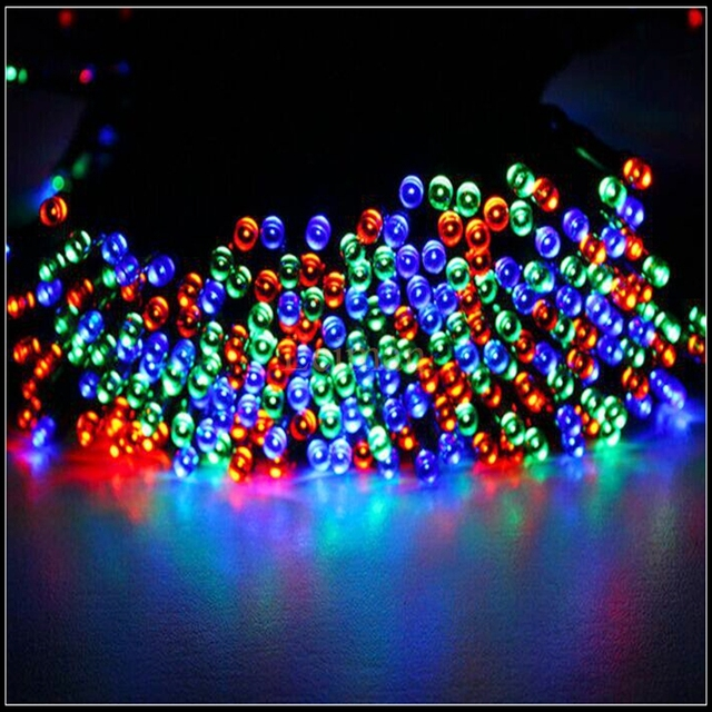 new multi color solar powered fairy string lights 39ft 12m 100 led christmas lights for holiday