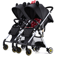 British Uberchild New Baby Stroller Twin High Landscape Can Sit Down And Split Child Car Trolley.