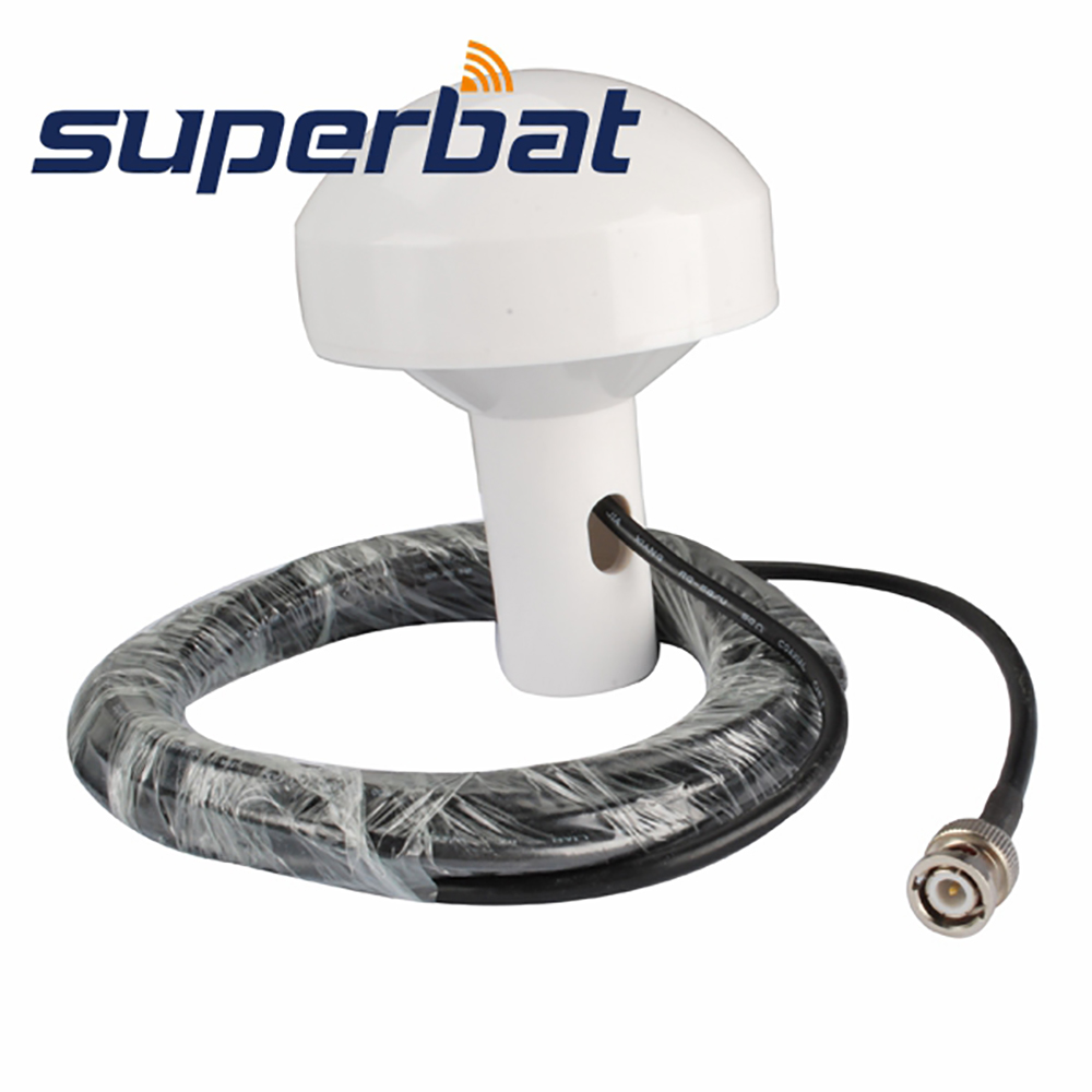 Superbat Marine GPS Antenna Aerial Signal Booster 5M Cable BNC Plug Connector For GARMIN GPS128 GPS15 GPS-15H GPS-15L GPS-15X