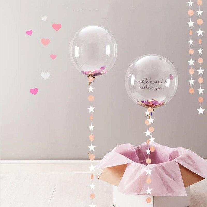 10PCS Round Bubble Ballon Transparent PVC Birthday Wedding Party Decorations