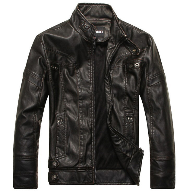 c570409beb9 New Arrival Brand motorcycle leather jackets men