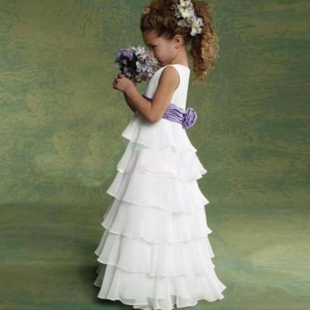 3 - 12 т 2016 летние новые девочки платья, Крещение детей принцесса свадебные ну вечеринку платье, Девушки туту многоуровневая платье