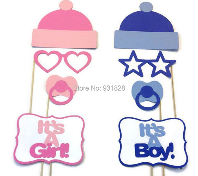 Lovely Gender Reveal Party Baby Shower Photo Booth Props On A Stick