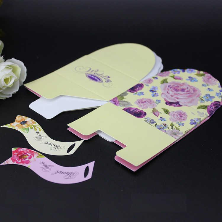 Бесплатная доставка коробка для конфет с цветами жемчужная бумага бежевый розовый подарок коробки свадебное украшение для вечеринок 50 шт./партия