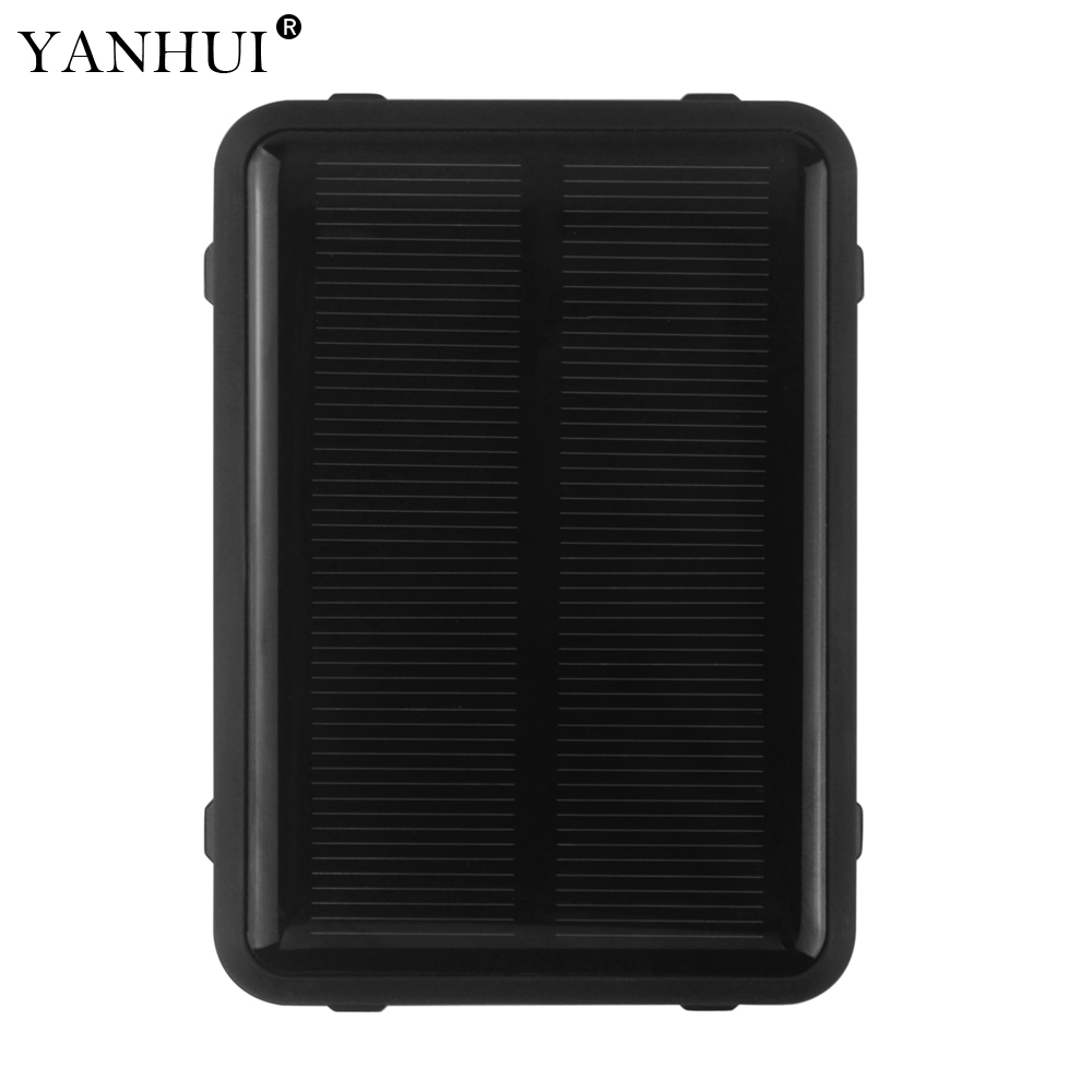 Solar Power GPS Tracker RF V34 Anti remove alarm for Sheep Cow Cattle High power LED Warning Light Waterproof Voice monitoring