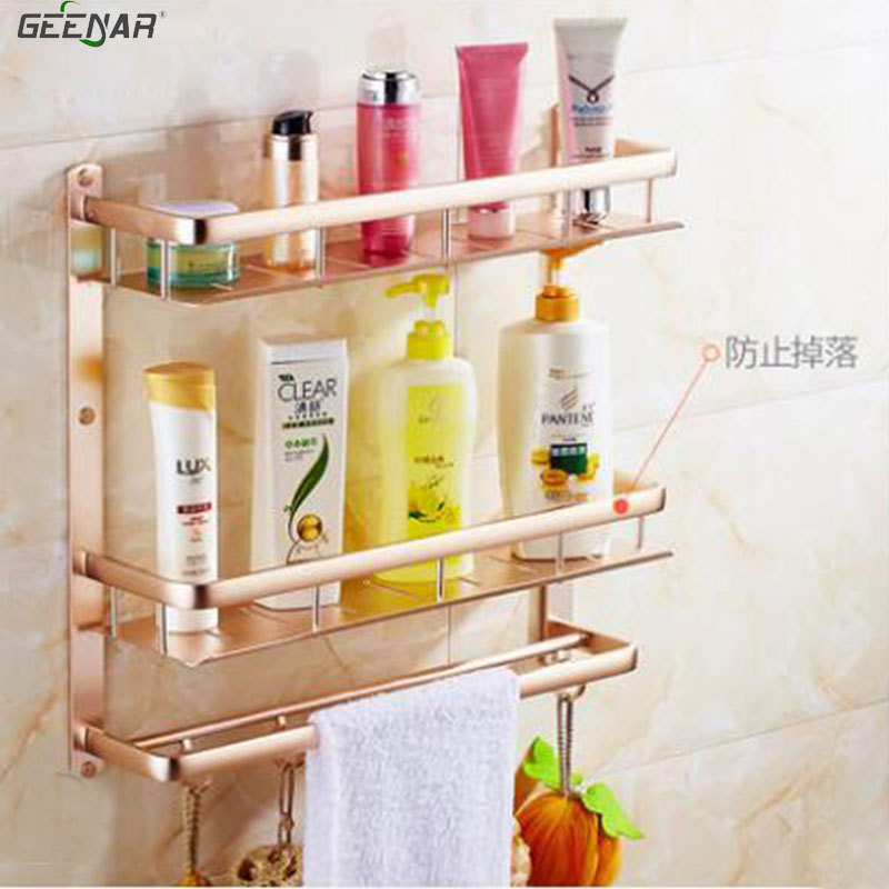 Free shipping,Bathroom shelf, aluminum towel rack, bathroom rack ...
