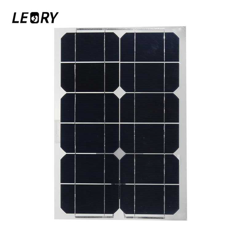 LEORY 20W 6V Sunpower Monocrystalline Semi-flexible Solar Panels With USB Interface For Battery Charger