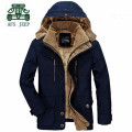 AFS JEEP Detachable Inner 2016 New Design Blue Khaki Thickness Coat,Russian Winter High Quality Original Brand Cardigan Coats
