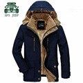 AFS JEEP Interno Destacável 2016 Nova Blue Design Khaki Brasão Espessura, Inverno Russo de Alta Qualidade Original Da Marca Cardigan Coats