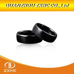 Image 4 - כף יד 125 KHz EM4100 RFID המעתיק מעתק מתכנת קורא + ID125Khz RFID שחור קרמיקה חכם אצבע טבעת ללבוש