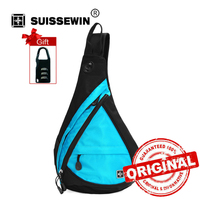 Swisswin Casual Shoulder Bags Fashion Sling Bag For Women And Men Small Waterproof Travel Chest Bag