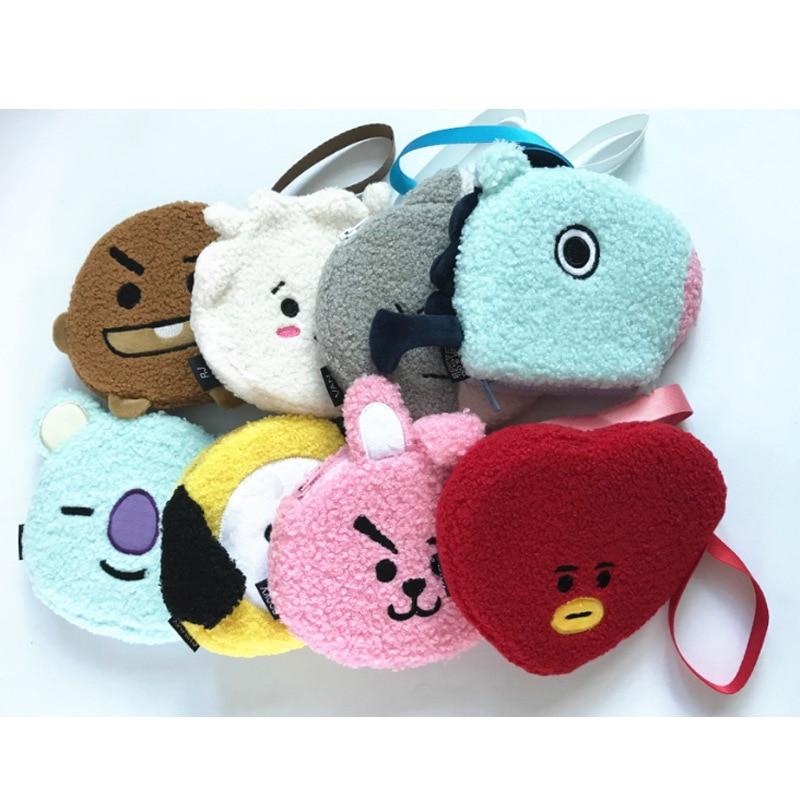 [MYKOP]BTS Bangtan Boys Wool Like Small Bag V SUGA J-HOPE JIN JIMIN JUNGKOOK RM KPOP Fans Collection SA18062409 цена