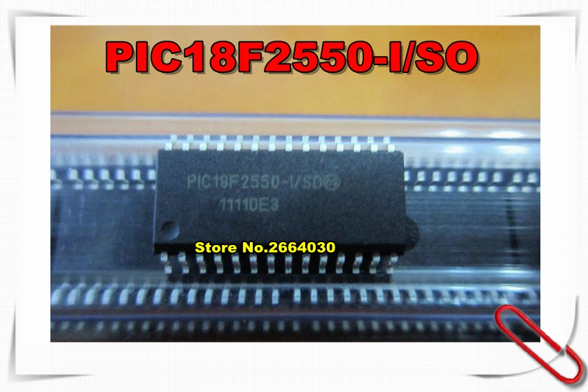 10PCS lot PIC18F2550 I SO PIC18F2550ISO PIC18F2550 SOP28