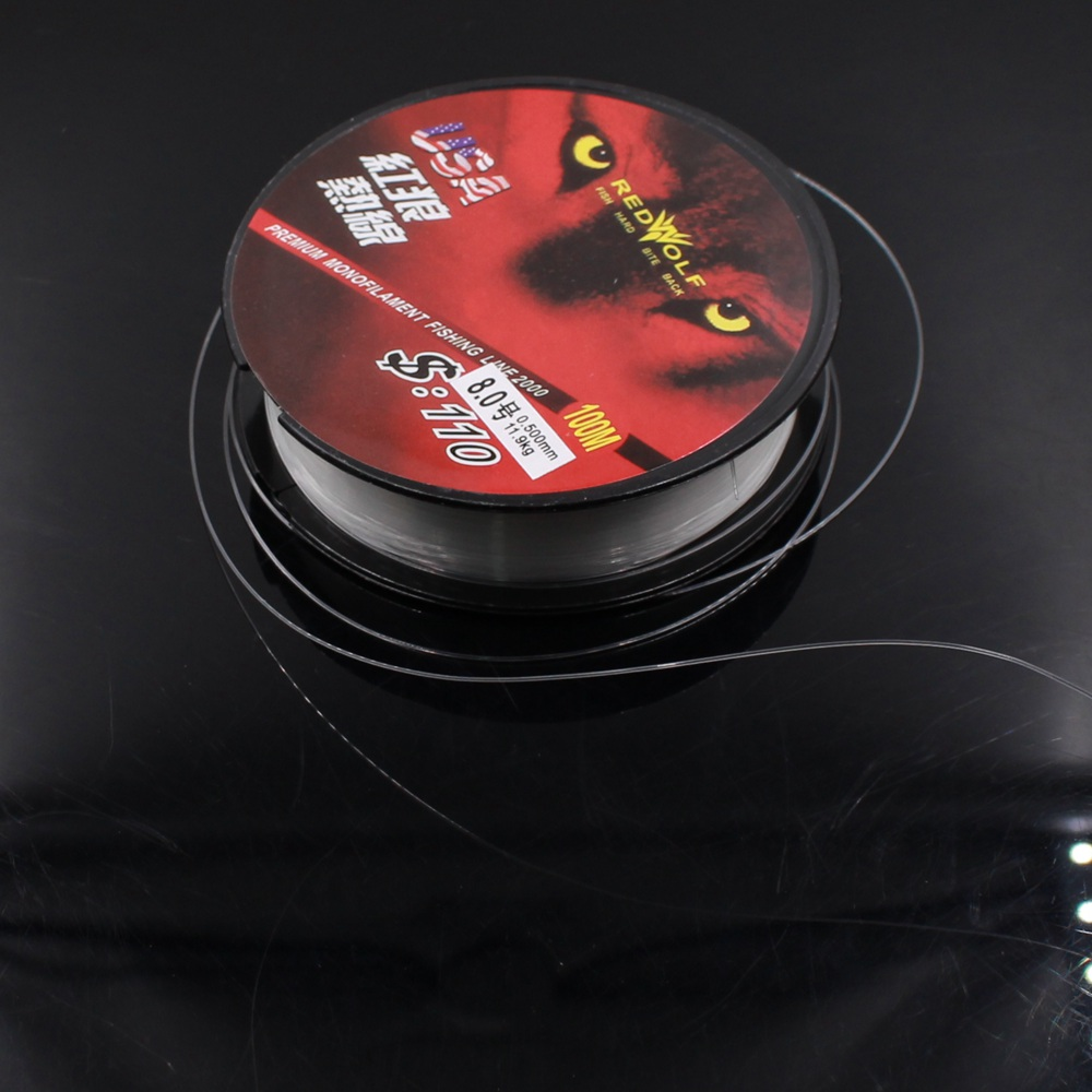 1 Pcs Fishing Line 100% Super Strong Japanese 100m Carbon Fiber Nylon Transparent or Fluorocarbon Fishing Line Fishing Tackle