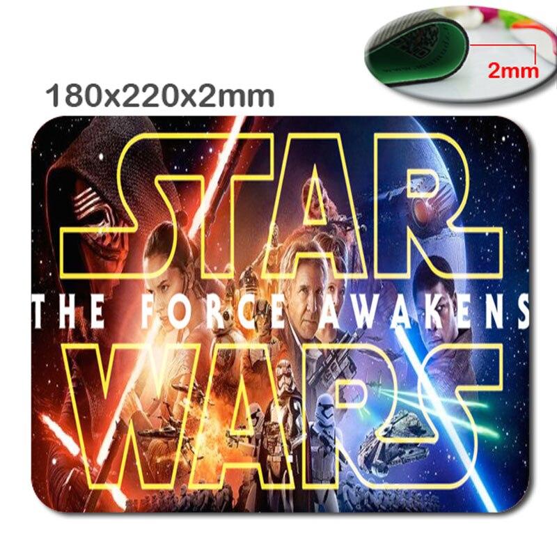 220 мм * 180 мм * 2 мм DIY Звездные войны Индивидуальные Прямоугольник нескользящей резиновой 3D HD быстрая печать игровой резиновый прочным ноутбу...