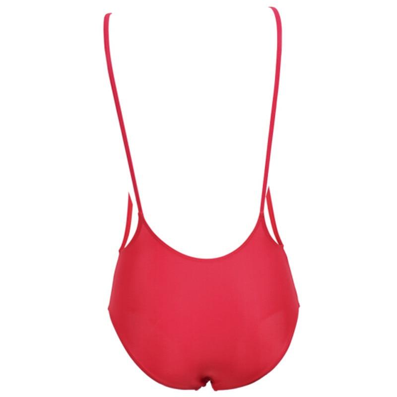 2017 New Sexy Women Swimsuit Lady Sexy V-Neck One Peice Swimsuit Purity Monokini Bikini Swimwear Beach Hot Sell Navy Suit 5
