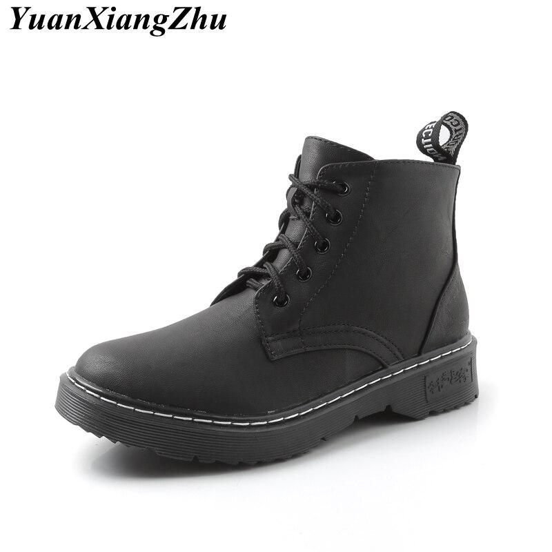 Invierno Dr Moda Charol Zapatos Black negro Felpa Talla Grande Botas plush Tobillo Negras Calientes Leather De Leather Patent plush 2018 Mujer Martin 7z7qr4Zx