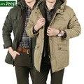 100% Оригинальный Бренд Мужские куртки и Пальто Теплый Толстый Хлопок Бизнес Зимняя Куртка Мужчины Парка Длинные Стиль Свободный Плюс Размер