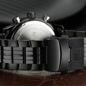 Image 3 - NAVIFORCE üst marka erkek spor İzle erkekler paslanmaz çelik Analog dijital LED saatler reçel tanga saat Relogio Masculino